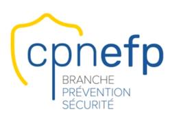 logo cnpnefp pour la formation cqp aps agent de sécurité